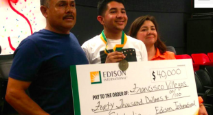 South Gate High School Student Wins $40,000 Scholarship from Edison Intl.