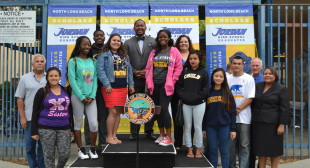 North Long Beach Whole Village Initiative Dedicates Banners to Jordan High School Scholars